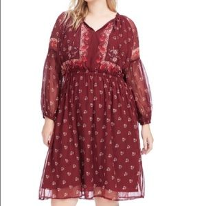 Lucky Brand Woman's Plus floral print dress 2X new